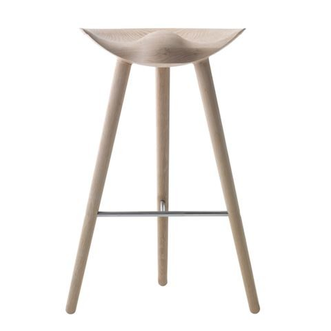 ML42 Barstool Oak / Stainless Steel