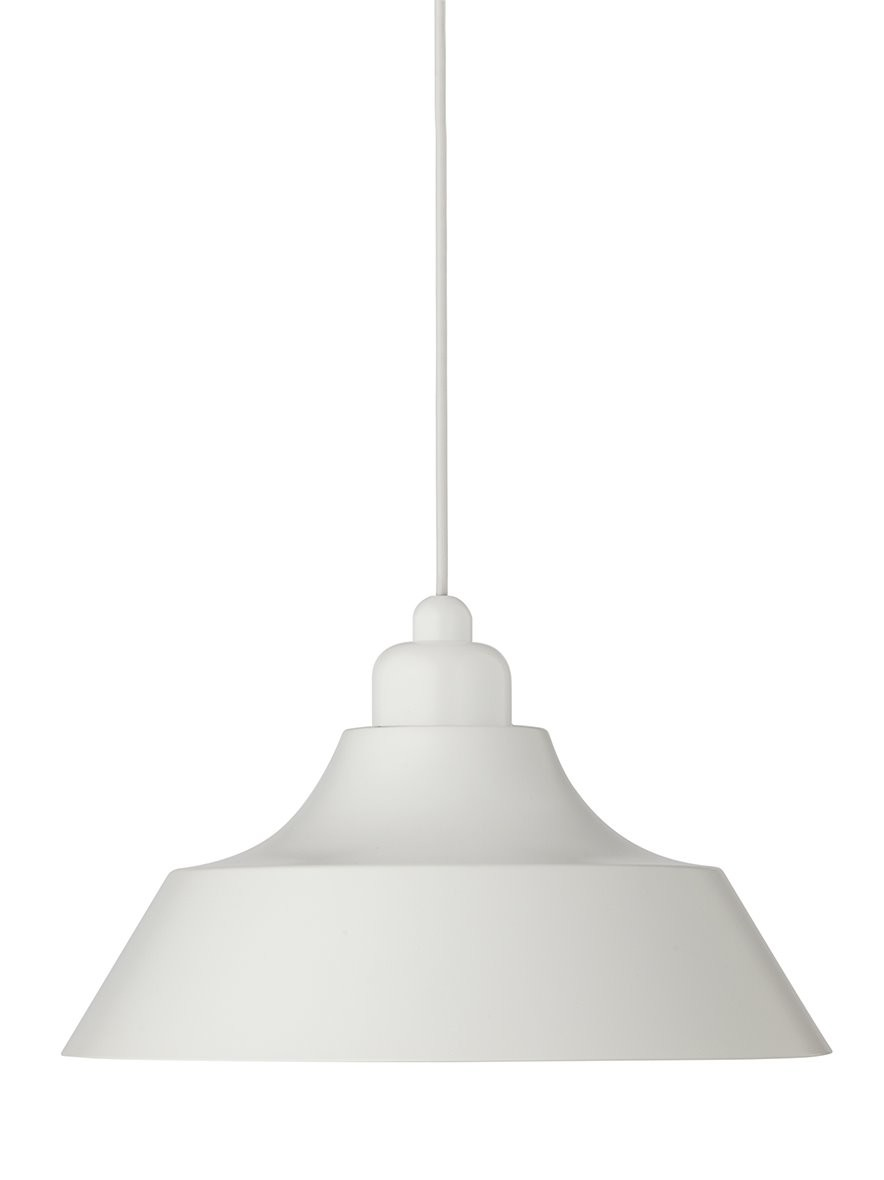 Momentum Pendant Light White with White Top