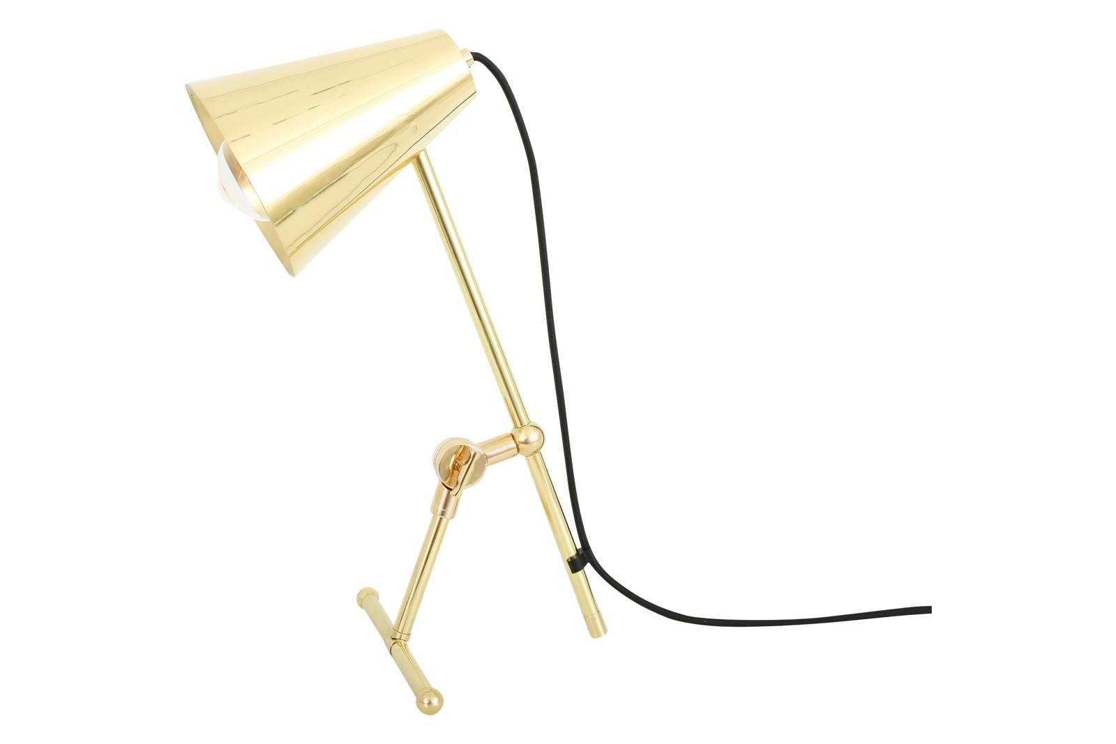 Moya Table Lamp Polished Brass, EU Plug
