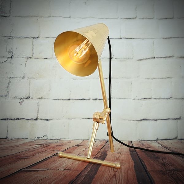Moya Table Lamp Polished Brass