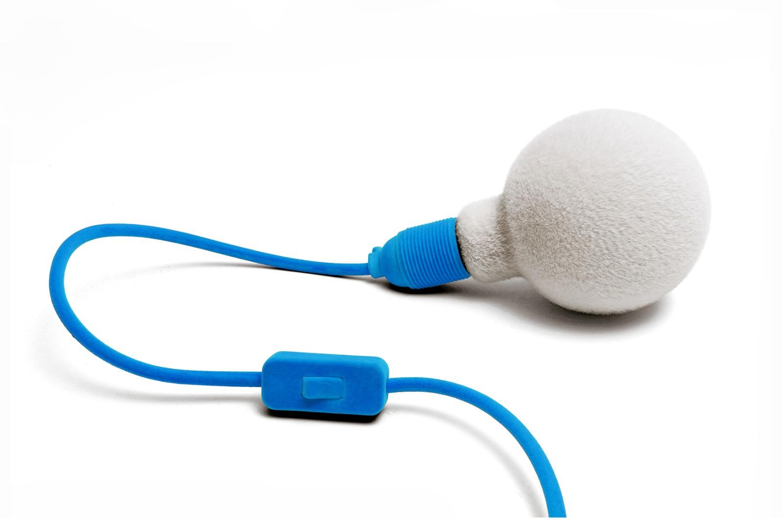 Muscar Fluffy Plug-in Light Sky Blue