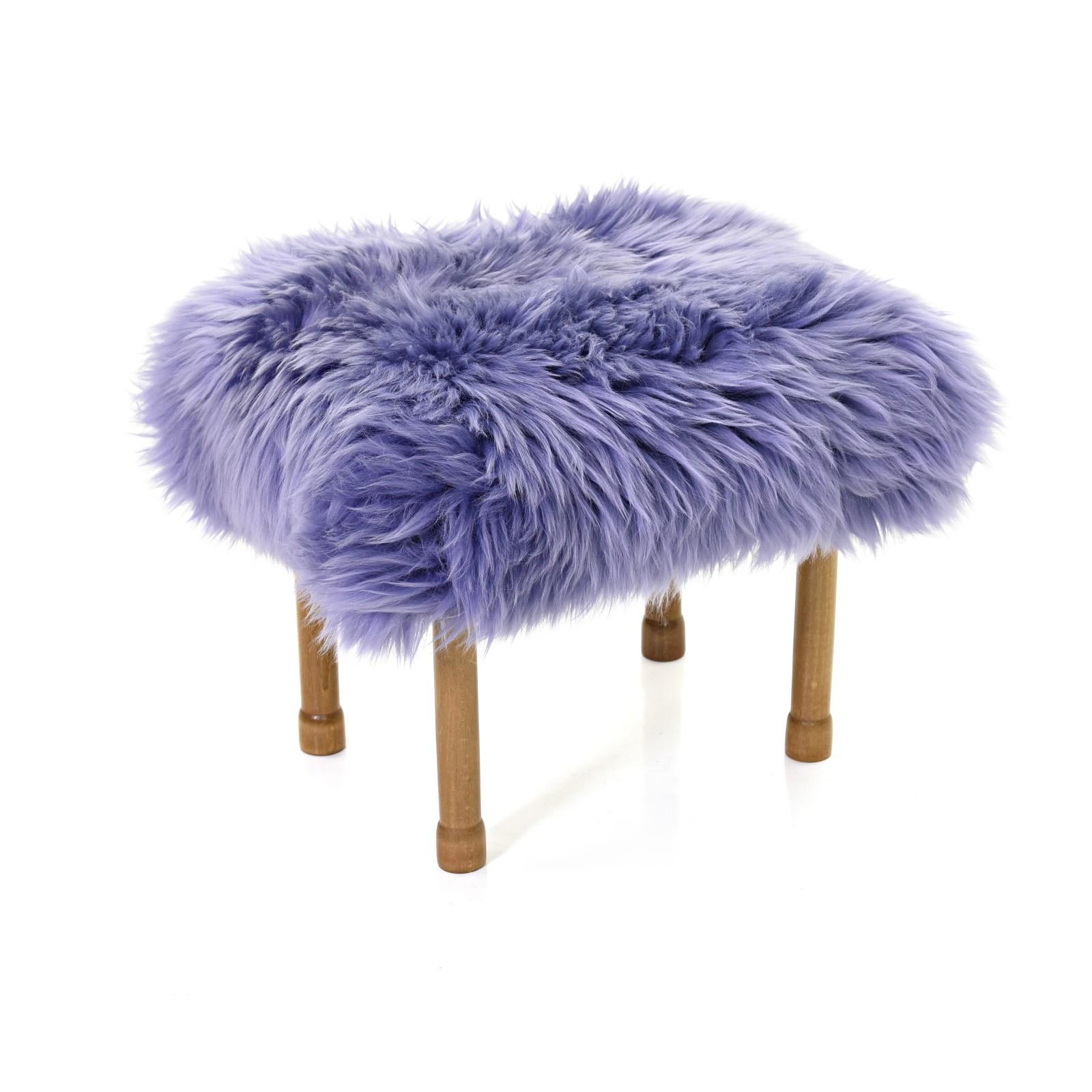 Myfanwy Sheepskin Footstool Lilac