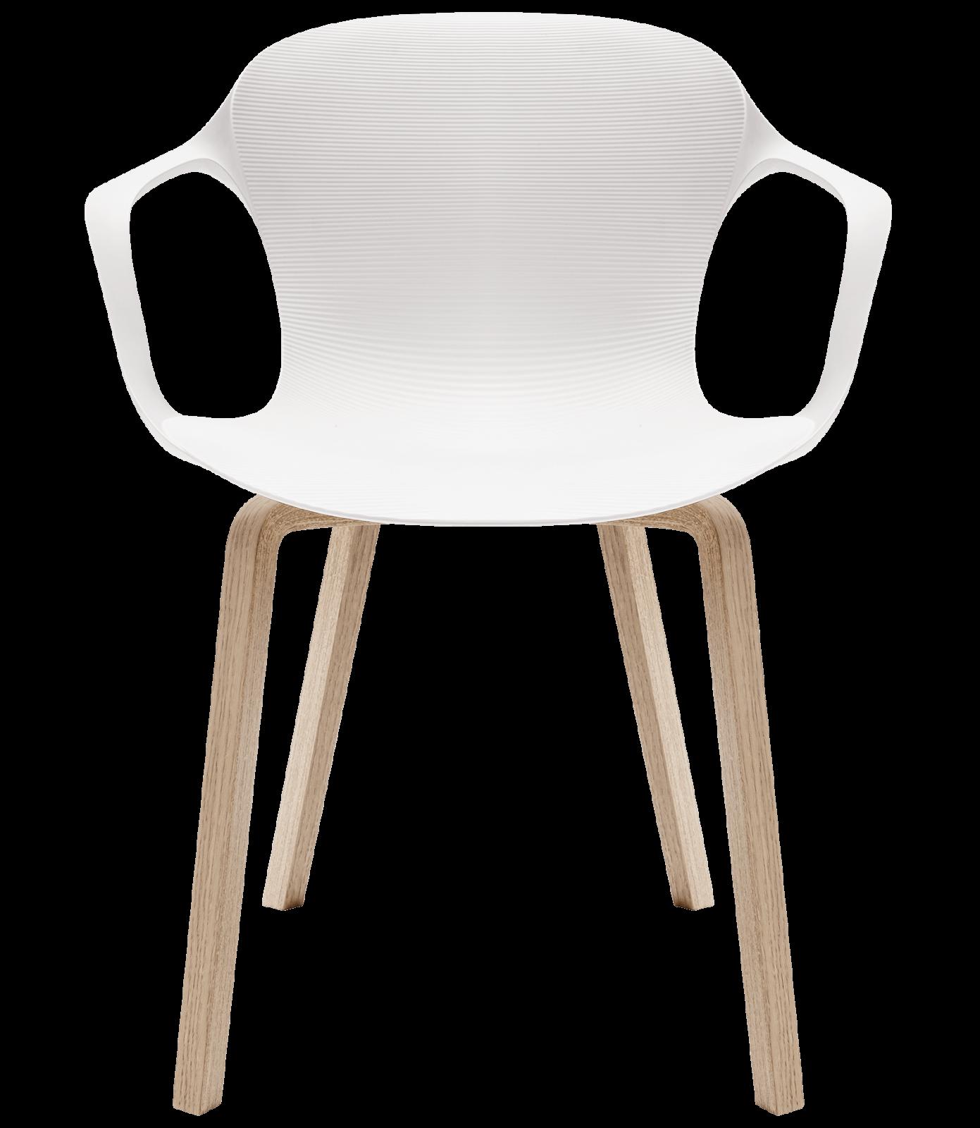 Nap armchair - wooden legs Milk White