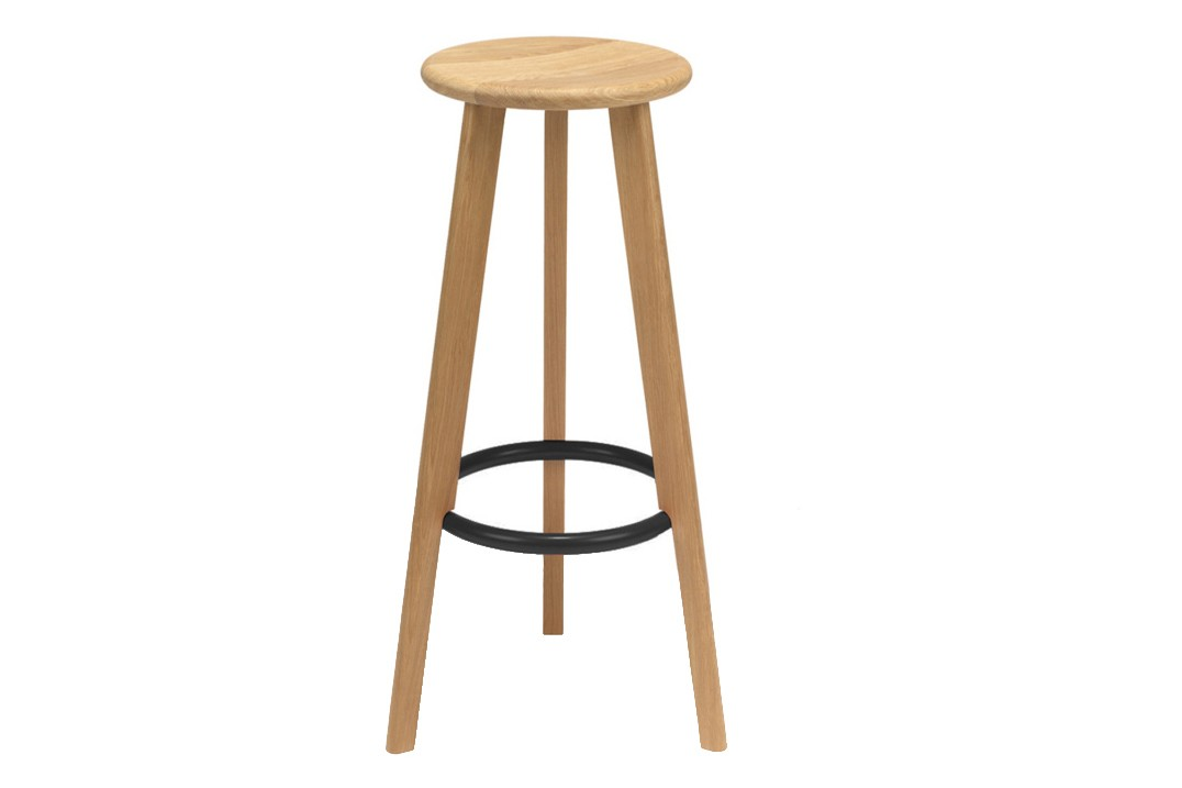 N & C Nought Stool New, Black, High