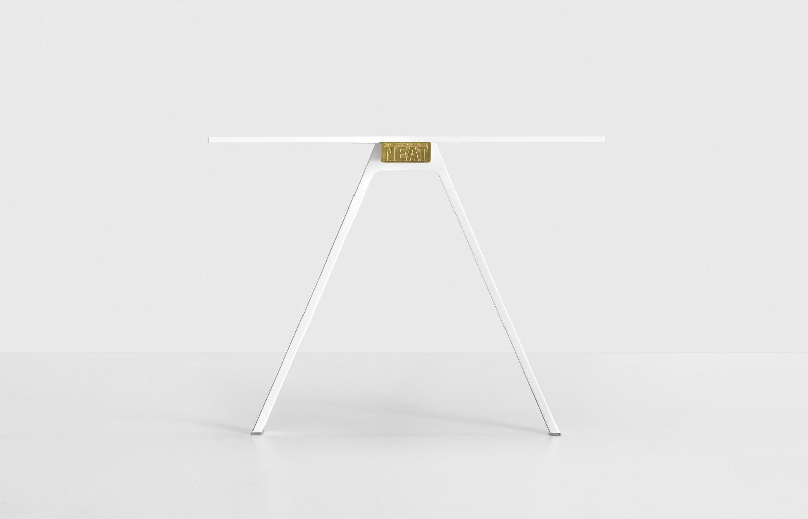 Neat Metal Table L160 X D90, White
