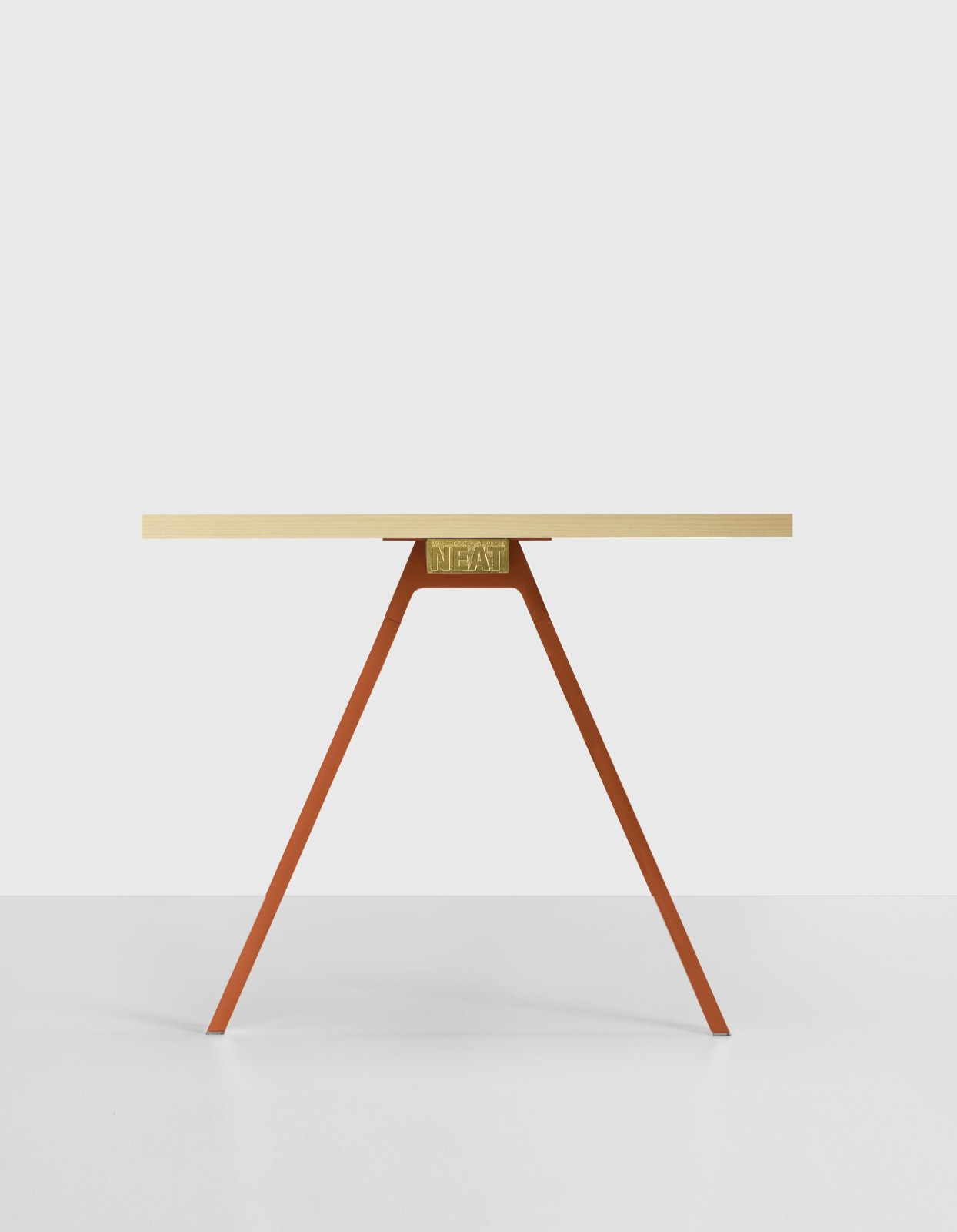 Neat Wood Table L180 X D90, White, Walnut