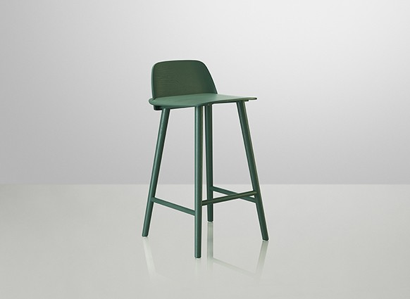 Nerd Bar Stool Dark Green, 65cm