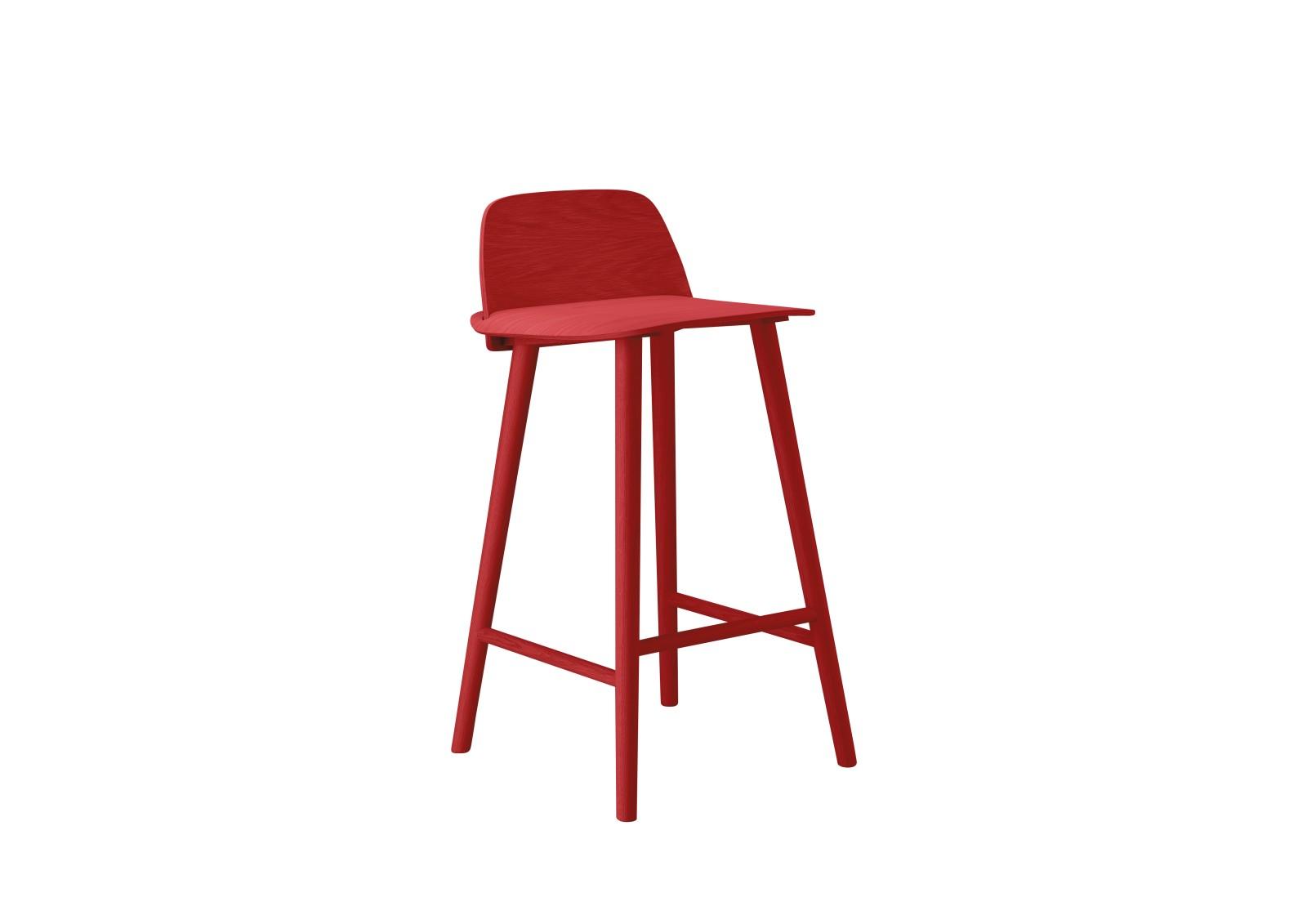 Nerd Bar Stool Red, 65cm