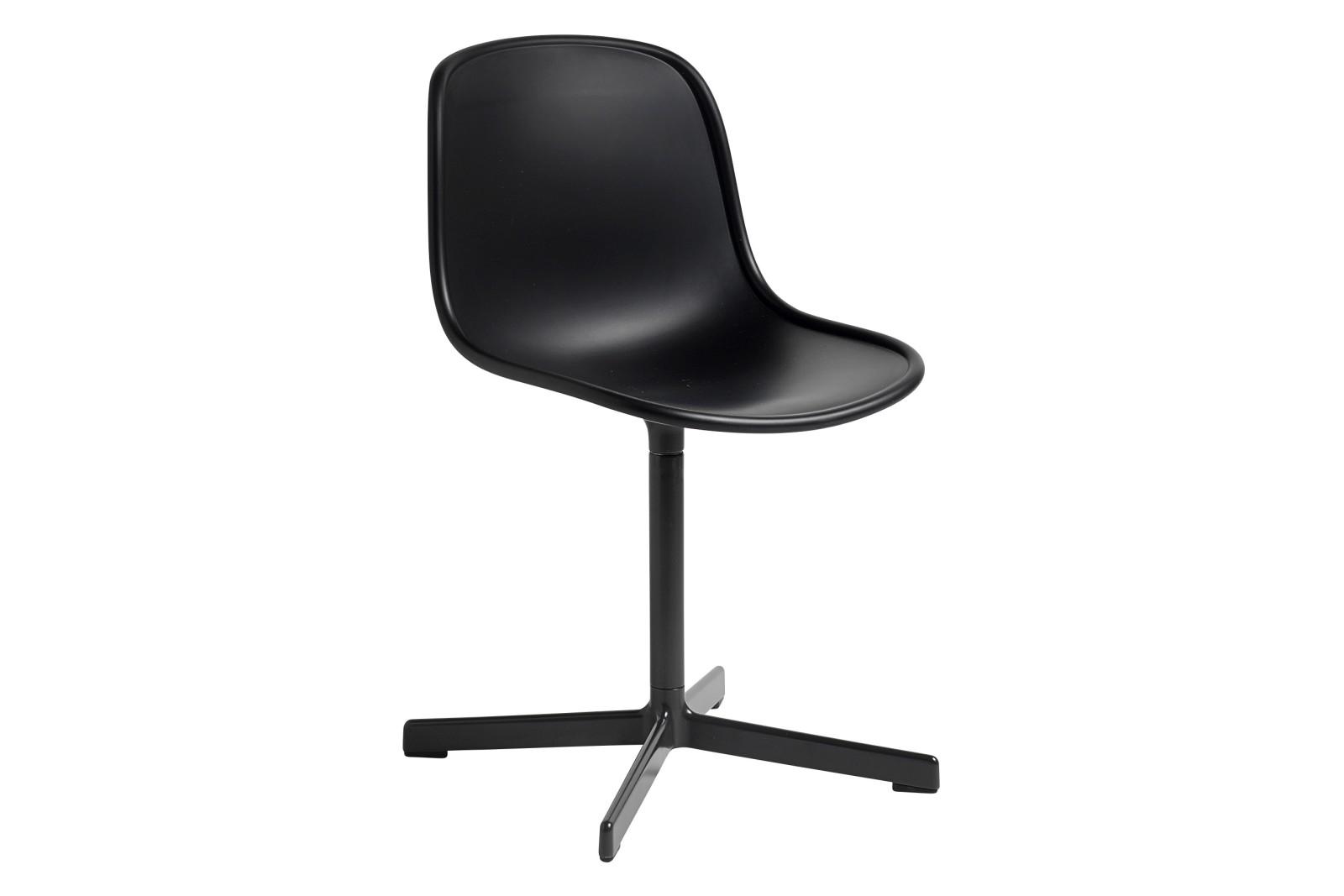 Neu 10 Chair with Swivel Base Soft Black Shell, Soft Black Frame