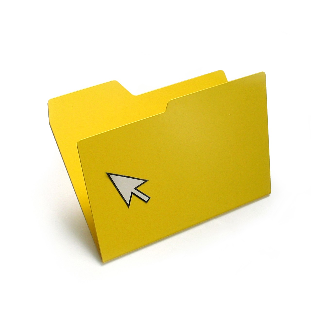 New Folder Magazine Rack Yellow, Standard