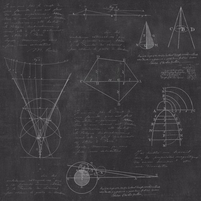 Newton Geometry Anthracite Wallpaper