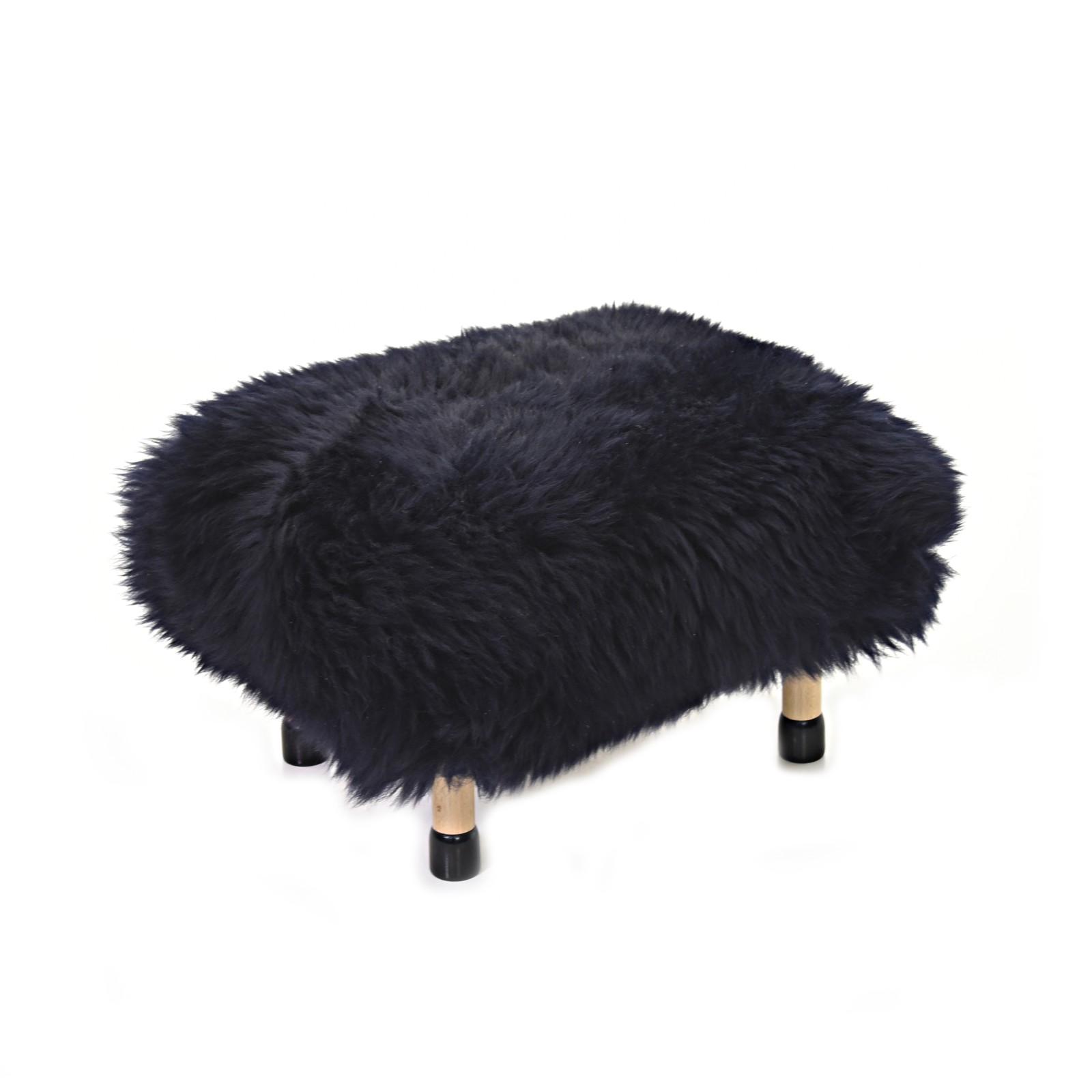 Nia Sheepskin Footstool Navy