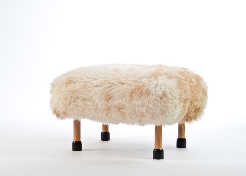 Nia Sheepskin Footstool Rare Breed