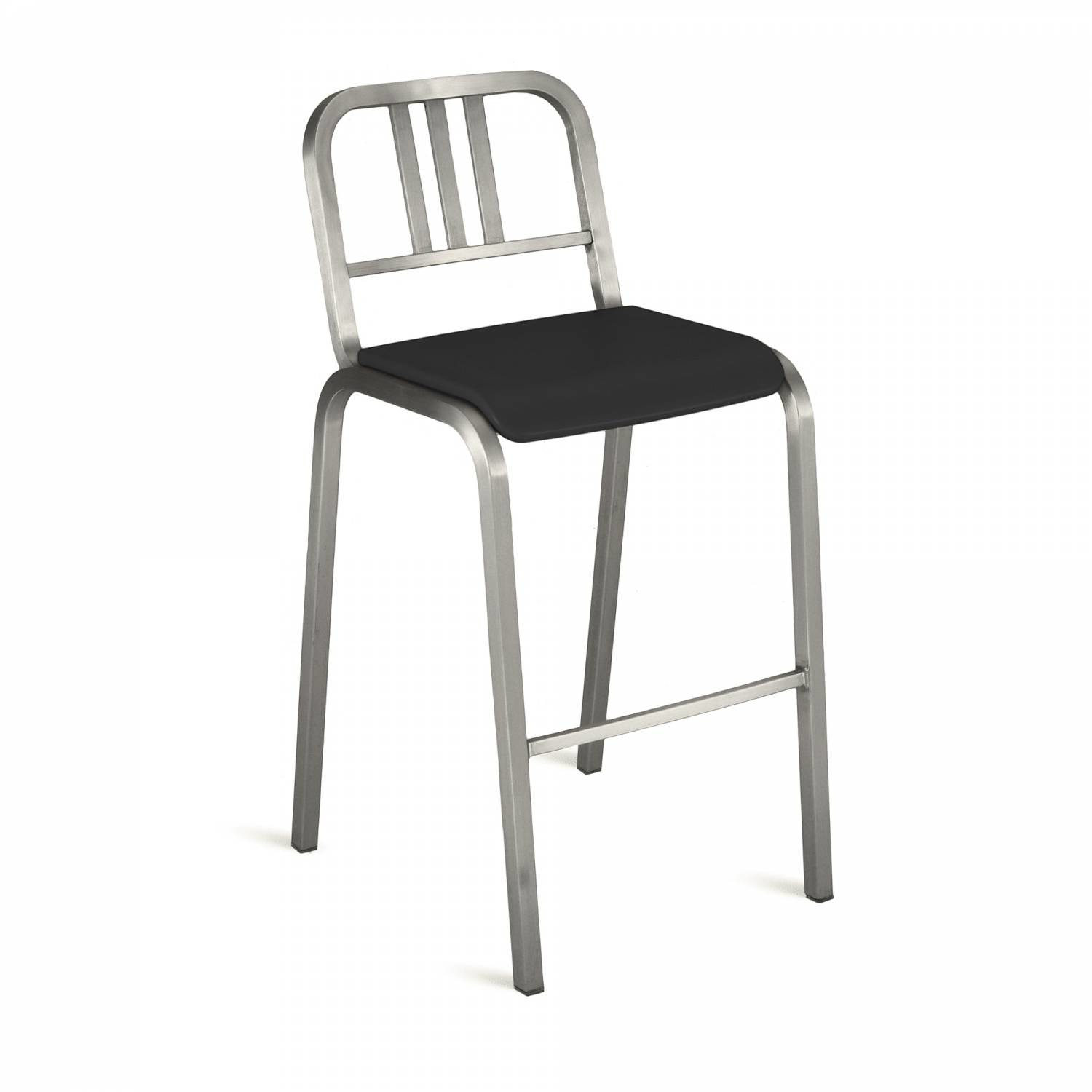 Nine-O Barstool Gray, Brush, Bar Back