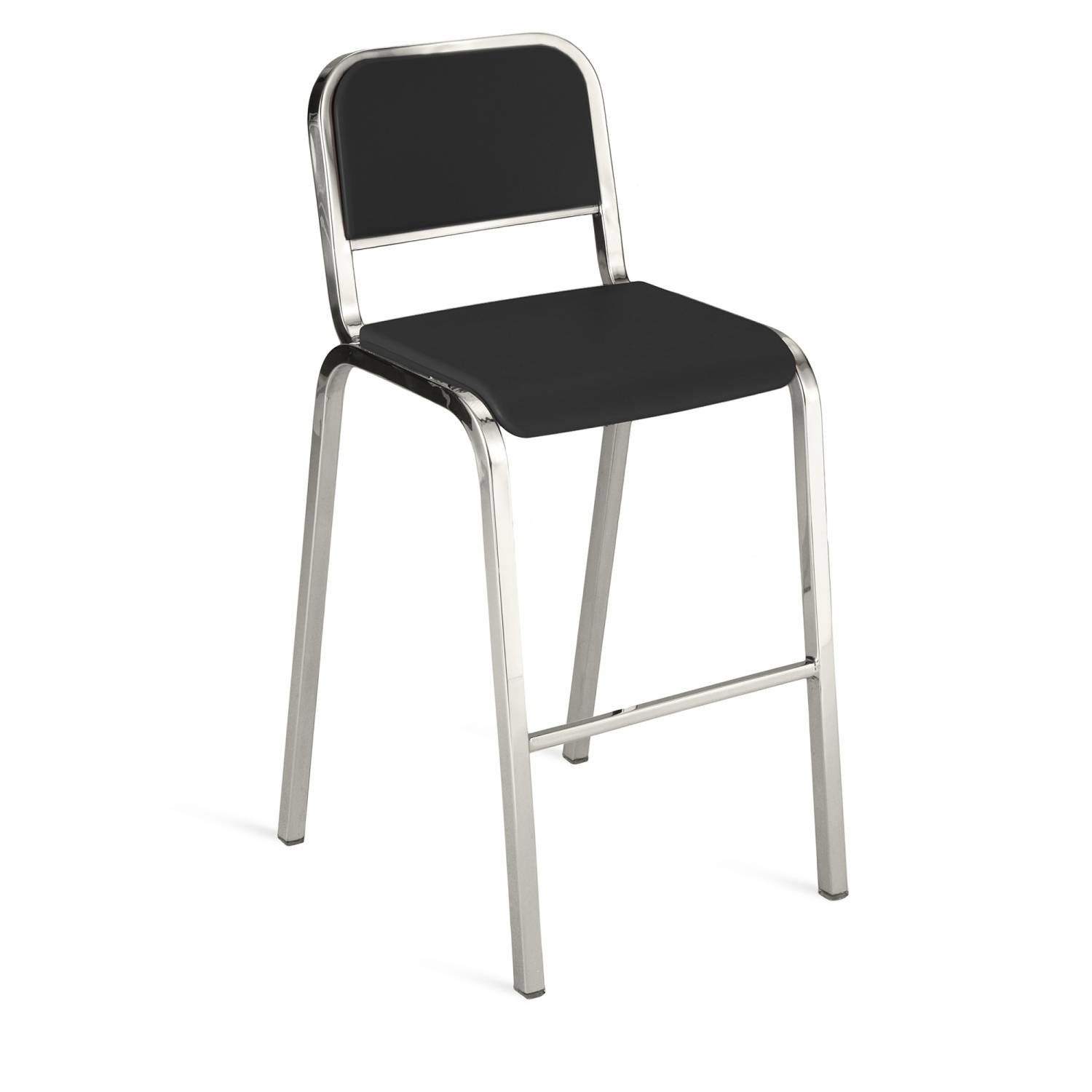 Nine-O Barstool Gray, Polished, Soft