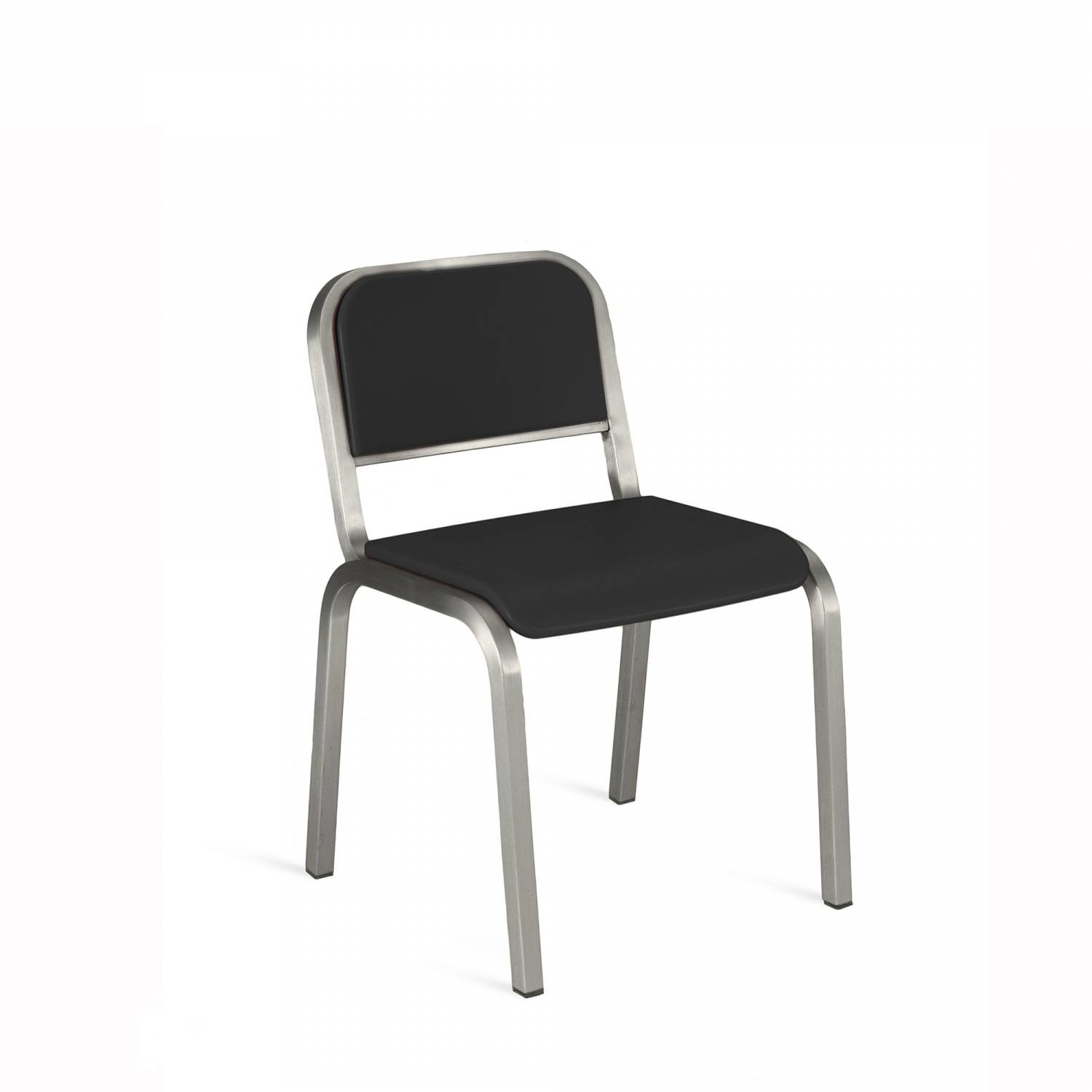 Nine-O Stacking Chair Gray, Brush, Soft