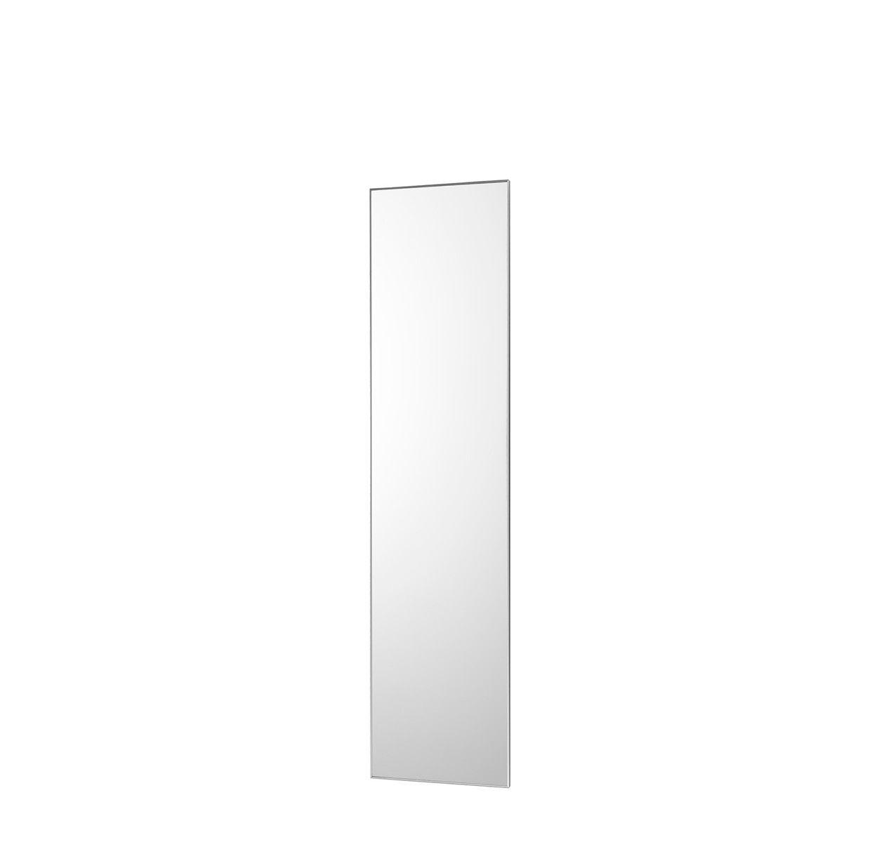 No Frame Rectangular Mirror Brushed Anodized Aluminum, 45x2x190