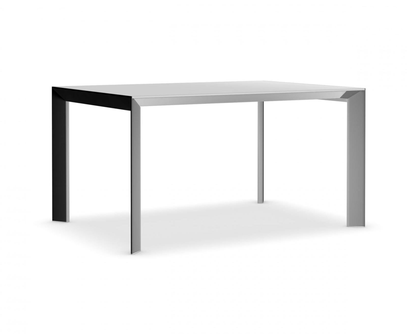 Nori glass Fixed - Depth 100 cm 166 cm, Anodised Aluminium, Gloss glass: Extra White