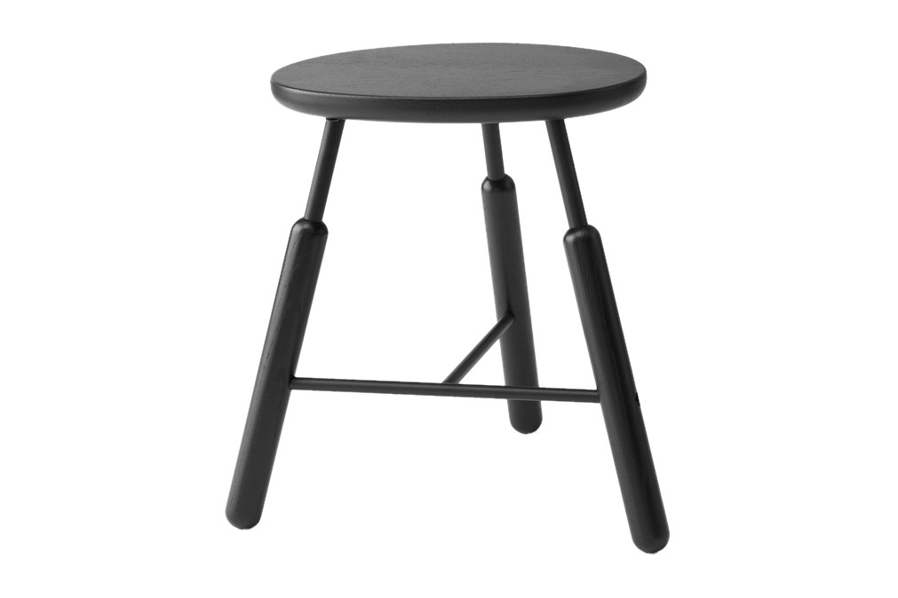 Norm NA3 Stool Black lacquered oak