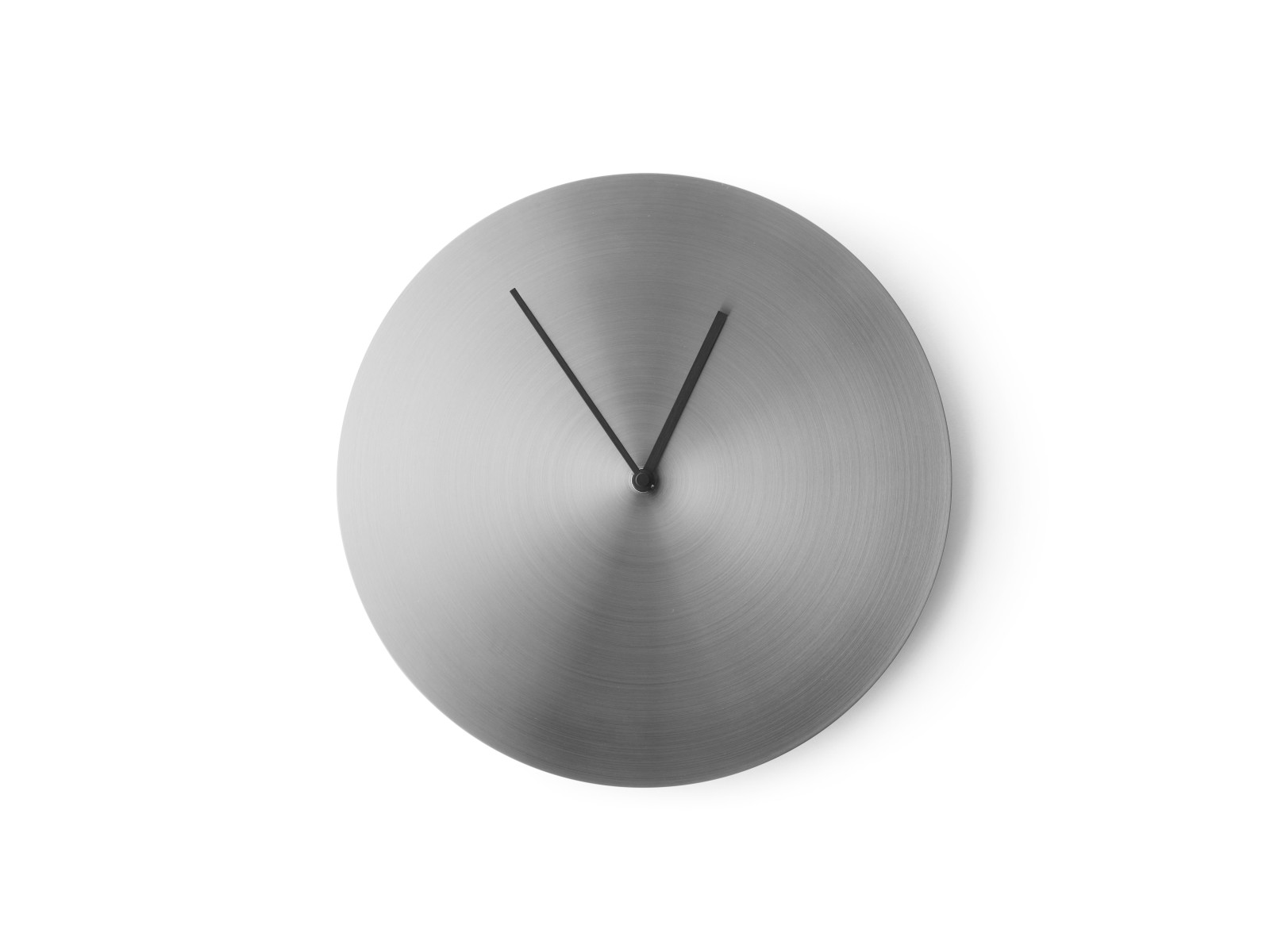 Norm Wall Clock Brushed Stainless Steel