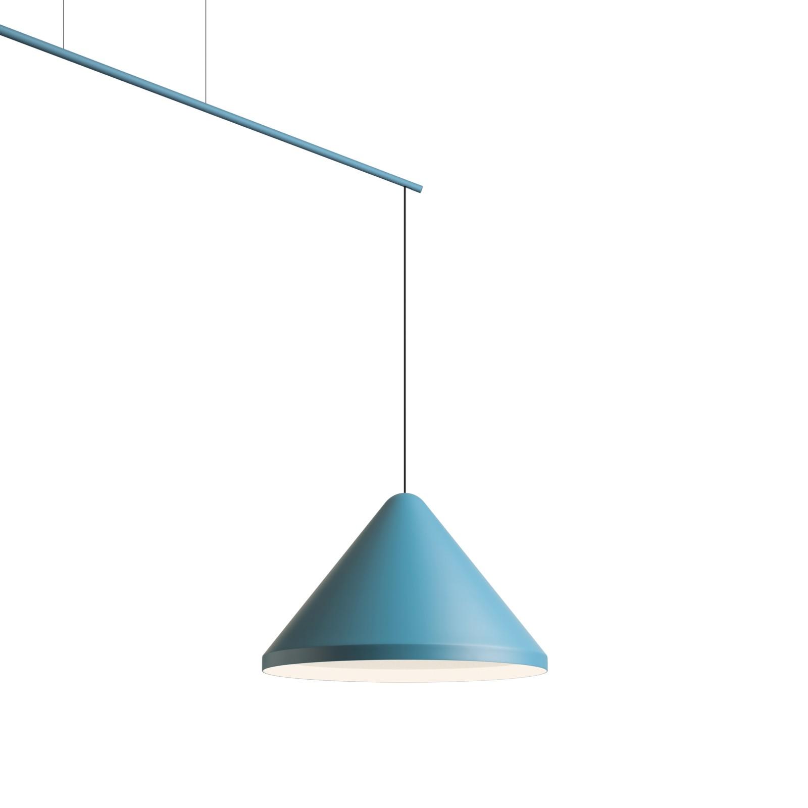North Pendant Light Matt Blue Lacquer, Medium