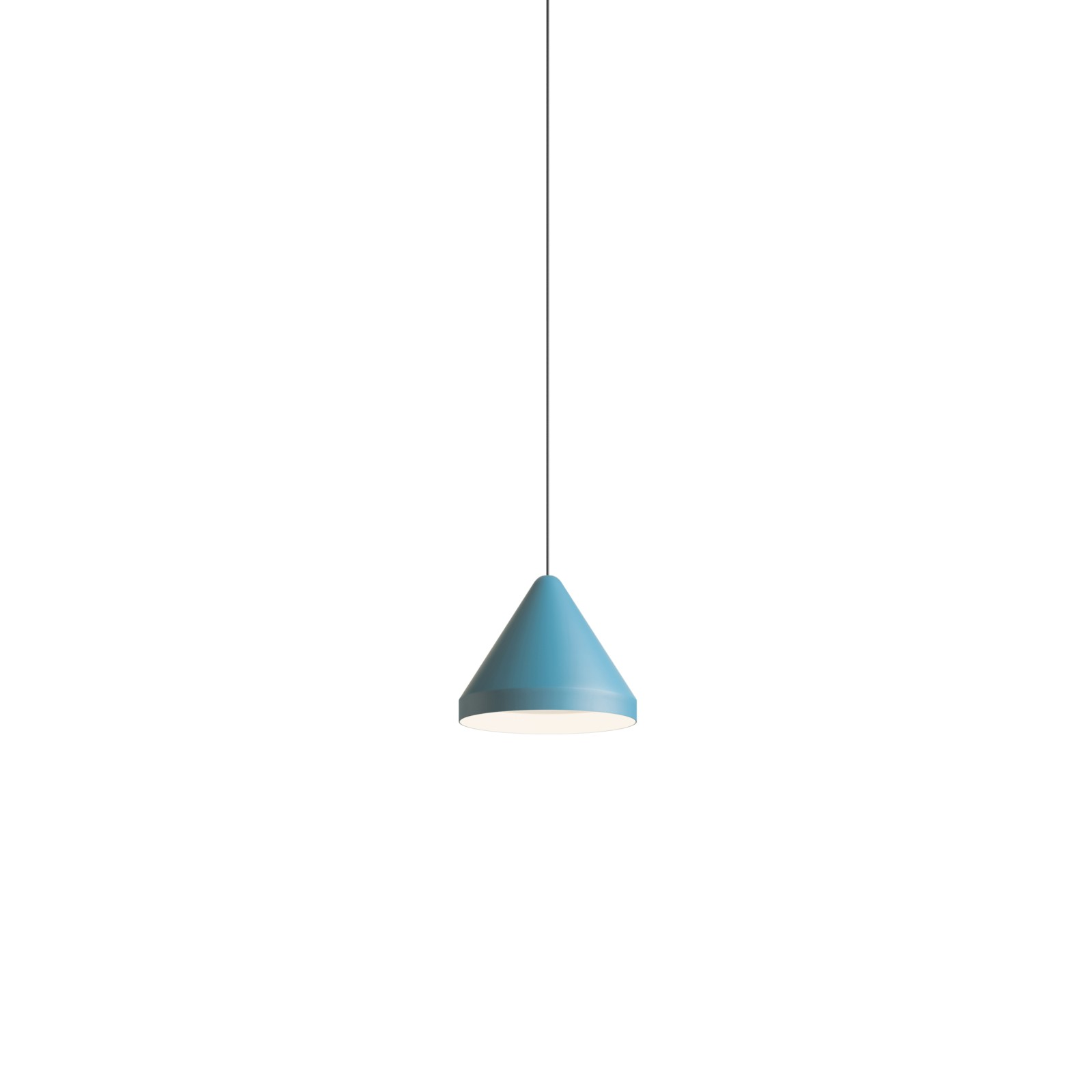 North Pendant Light Matt Blue Lacquer, 16.5cm
