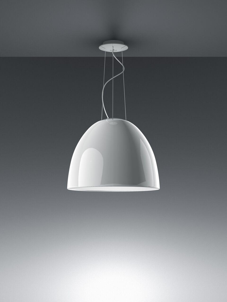 Nur Gloss Pendant Light Glossy White