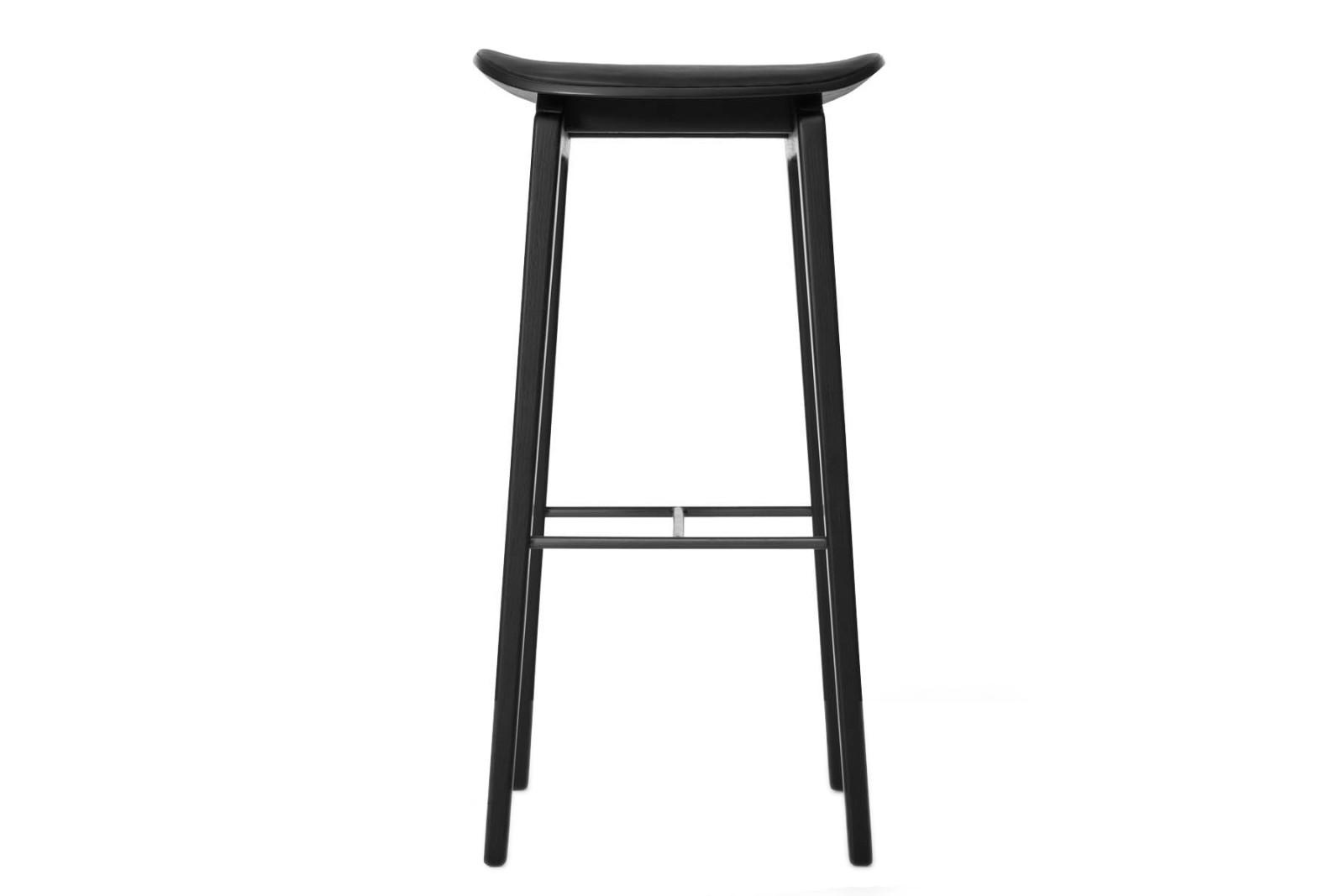 NY11 Bar Chair, Leather Black Frame, High