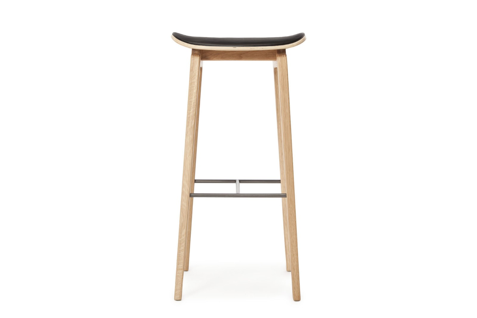 NY11 Bar Chair, Leather Natural, High