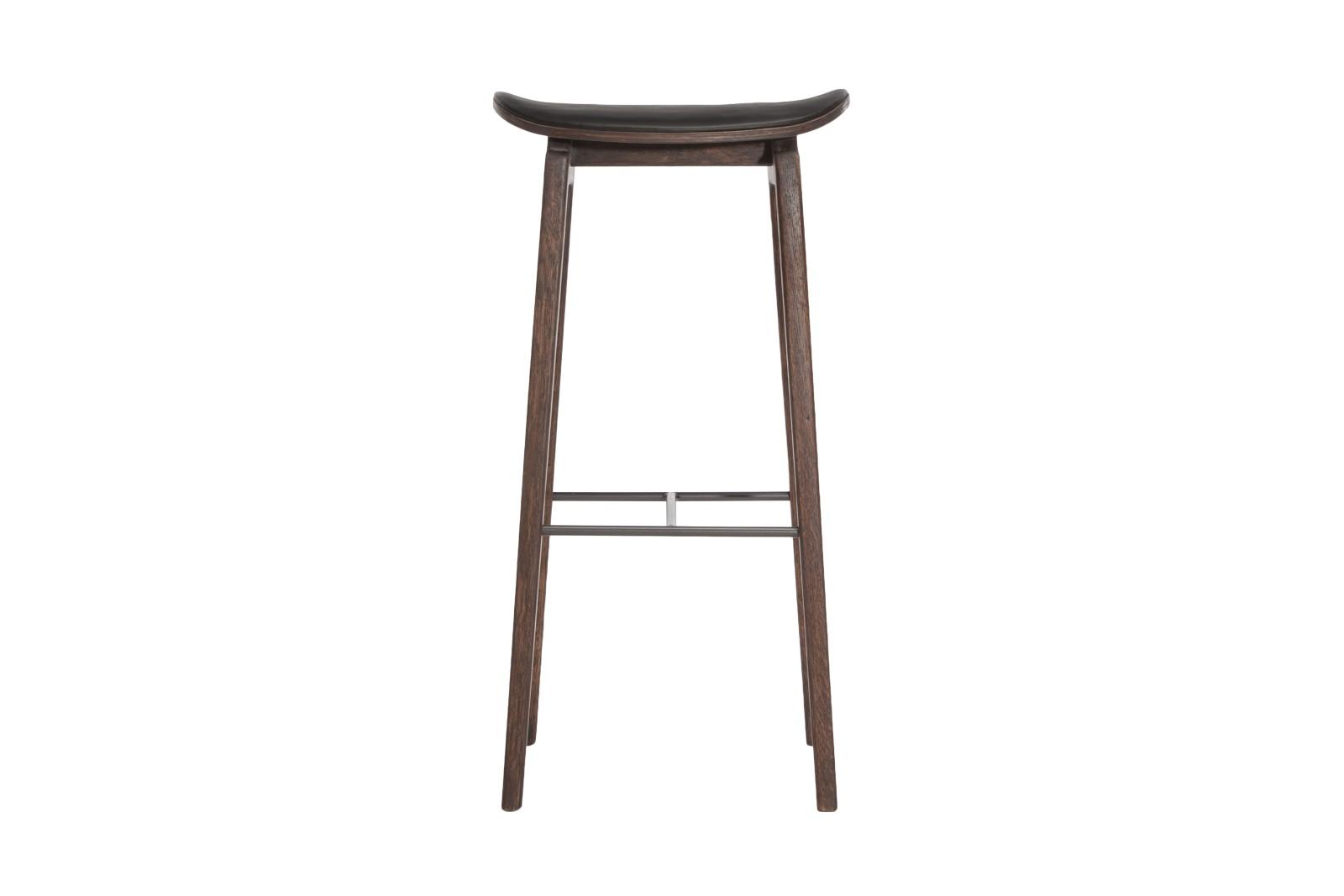 NY11 Bar Chair, Leather Walnut, High