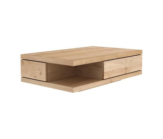 Oak Flat Coffee Table 110 x 110 x 37 cm