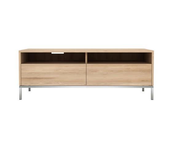 Oak Ligna TV cupboard 2 drawers