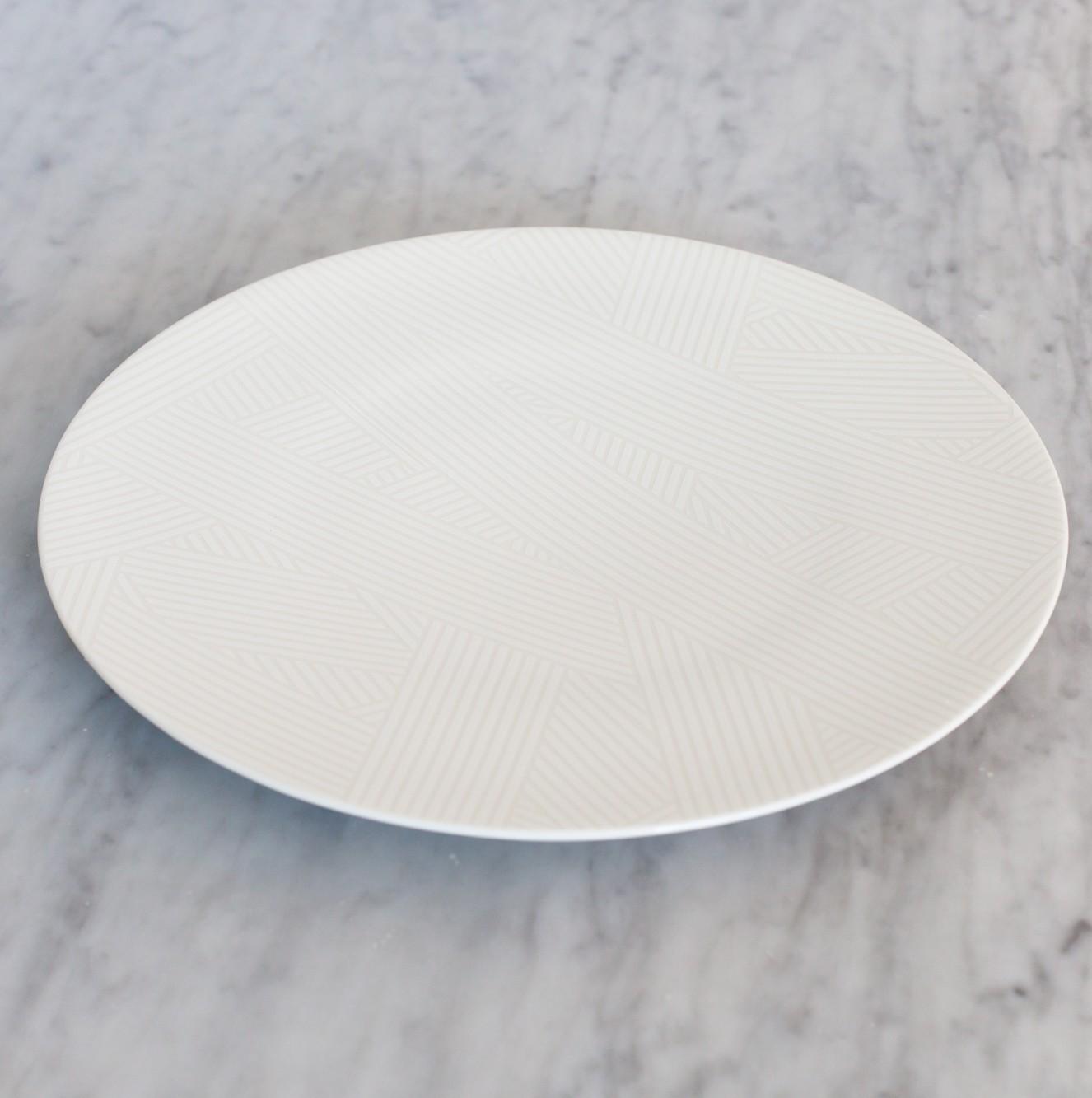 OBLIQUE COUPE PLATE WHITE OBLIQUE LARGE COUPE PLATE WHITE