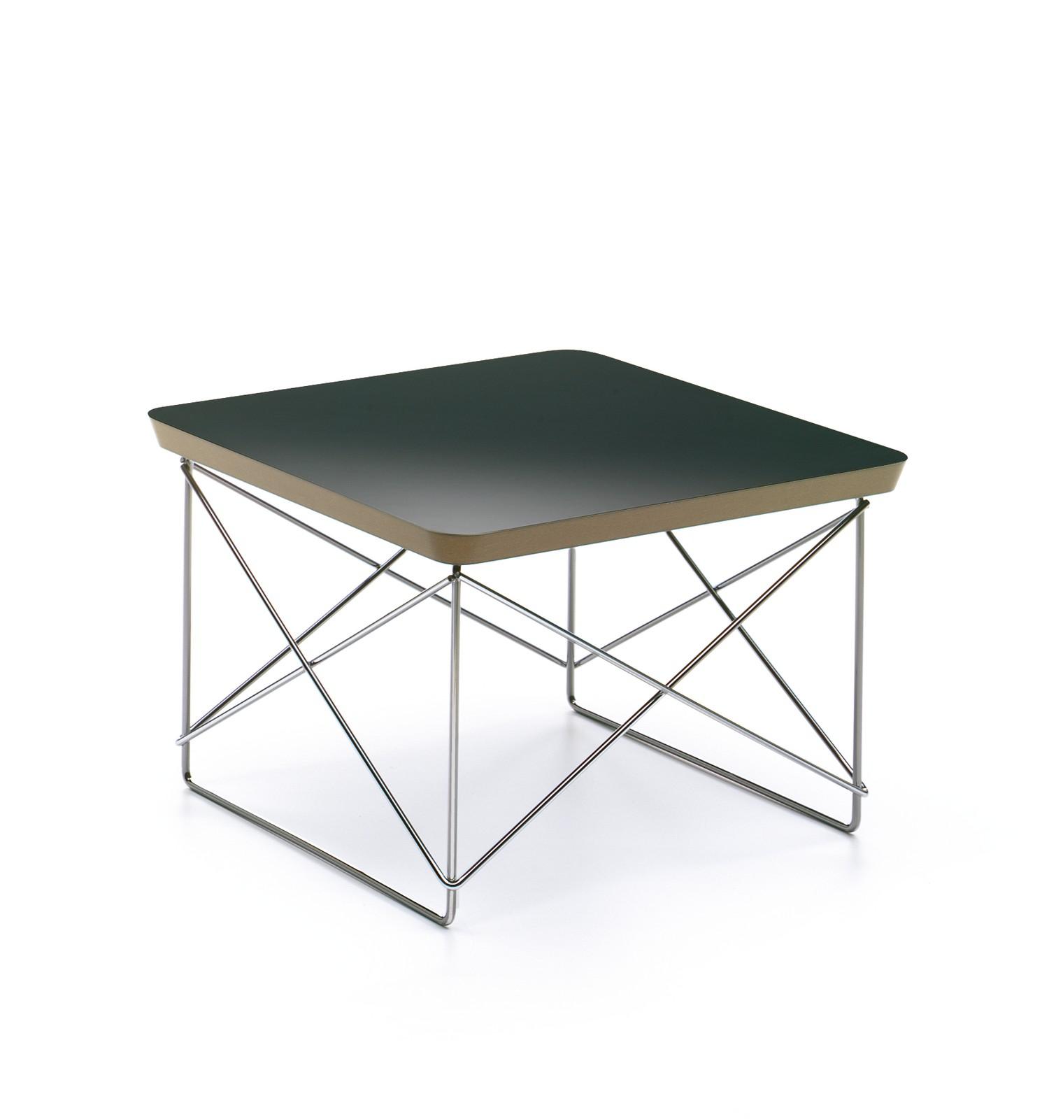 Occasional Table LTR HPL black, base chromed