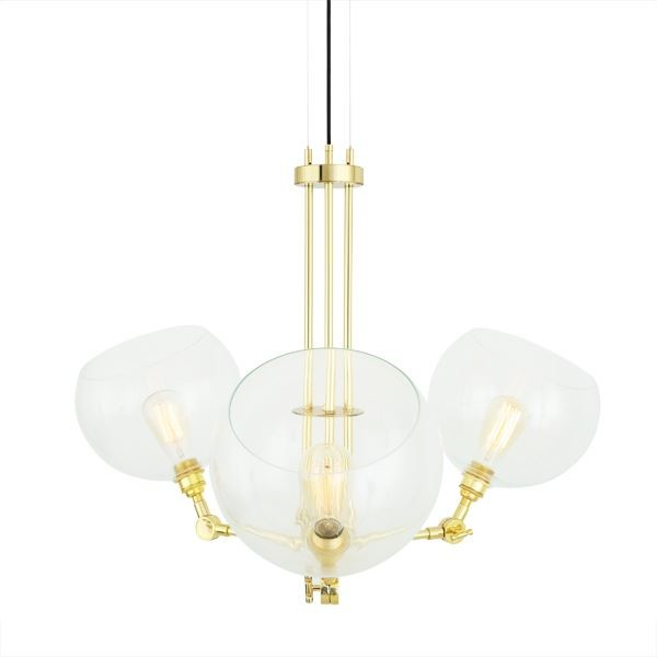 Oia Chandelier Polished Brass