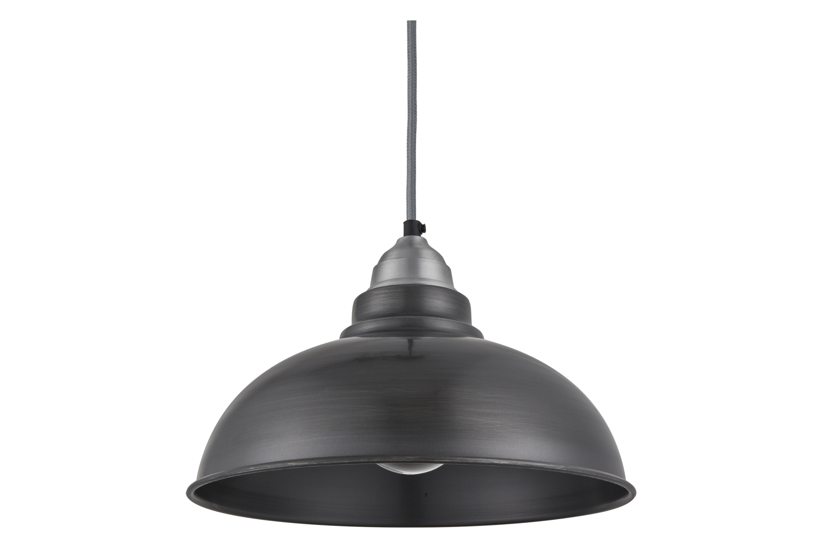 Old Factory Pendant Light - 12 Inch Old Factory Pendant - 12 Inch - Pewter