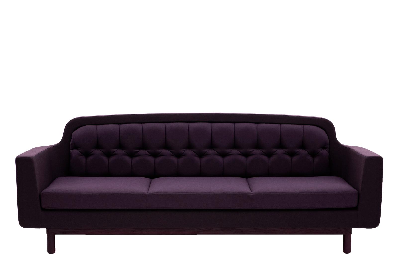 Onkel 3 Seater Sofa Purple
