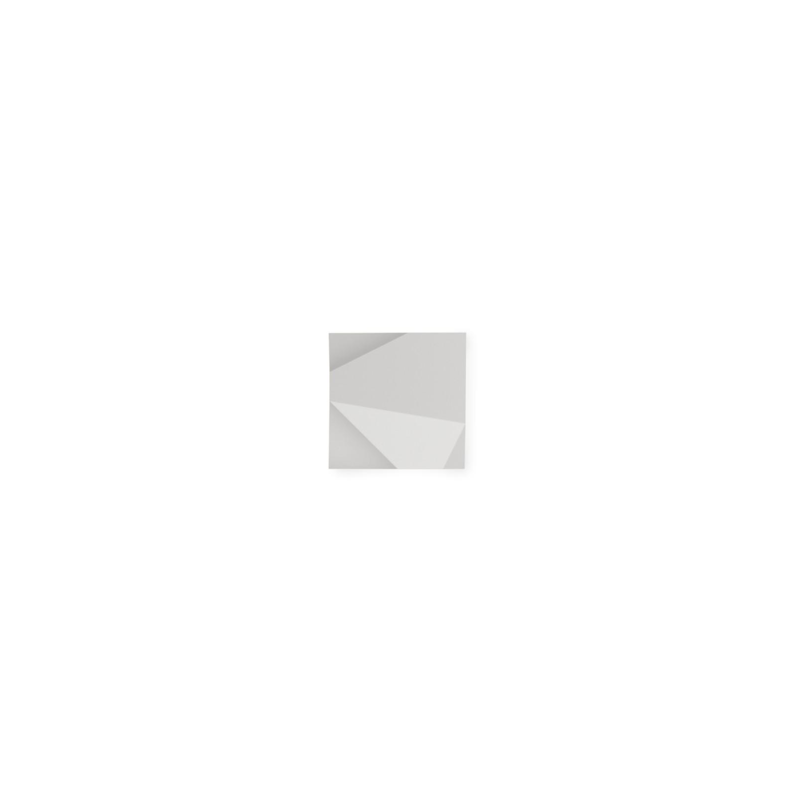 Origami Wall Light - Square Matt White Lacquer, Pattern 1