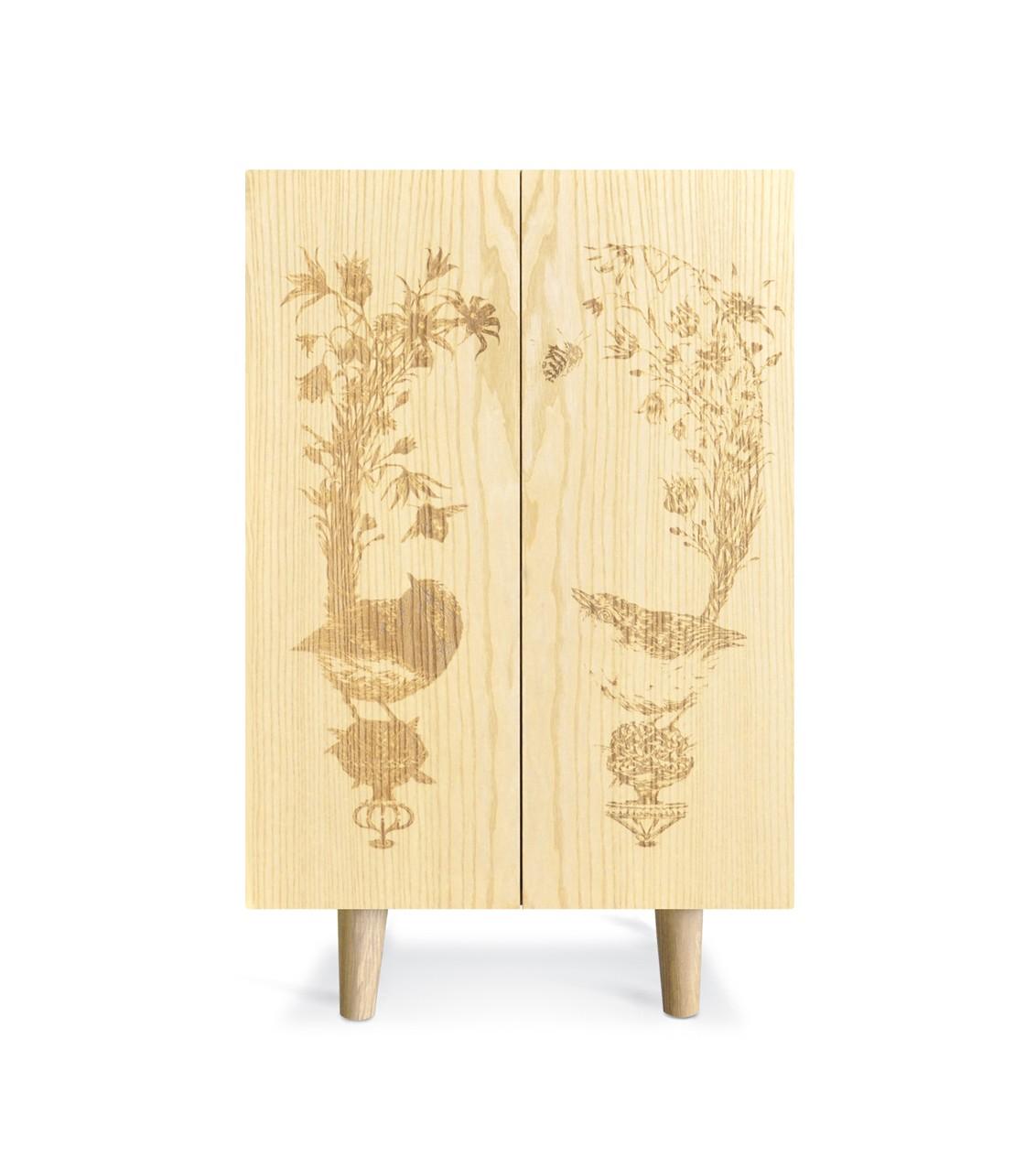 Ornithological Sketch Cabinet Ash Ornithological Sketch Cabinet
