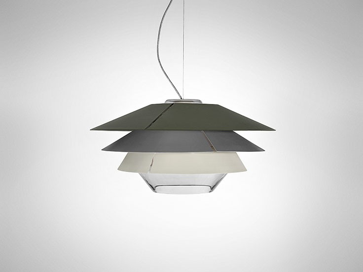 Overlay Suspension Lamp 0 50, Grey
