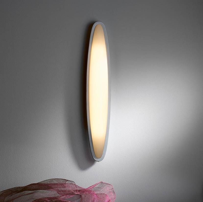 OVO Wall Lamp Fluorescent, Matte Grey