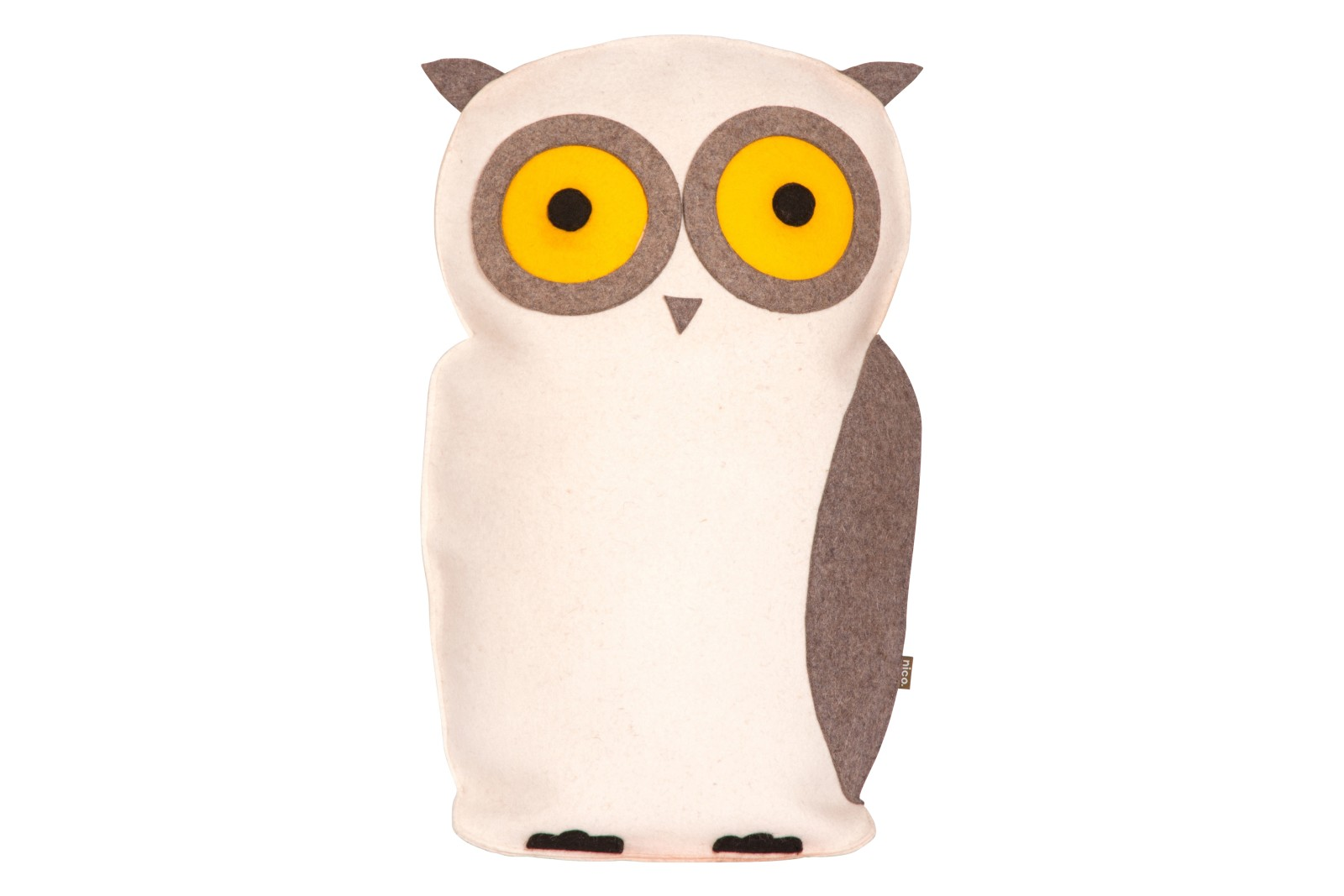 Owl Cushion White