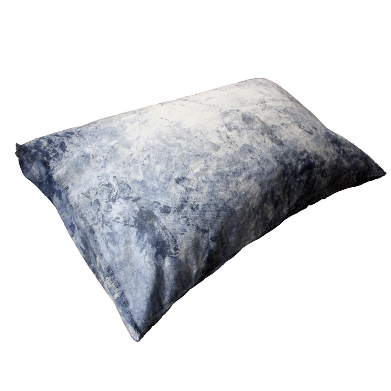 Painted Cushion - Indigo