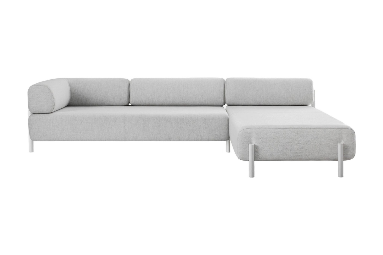 Palo Corner Sofa Right White
