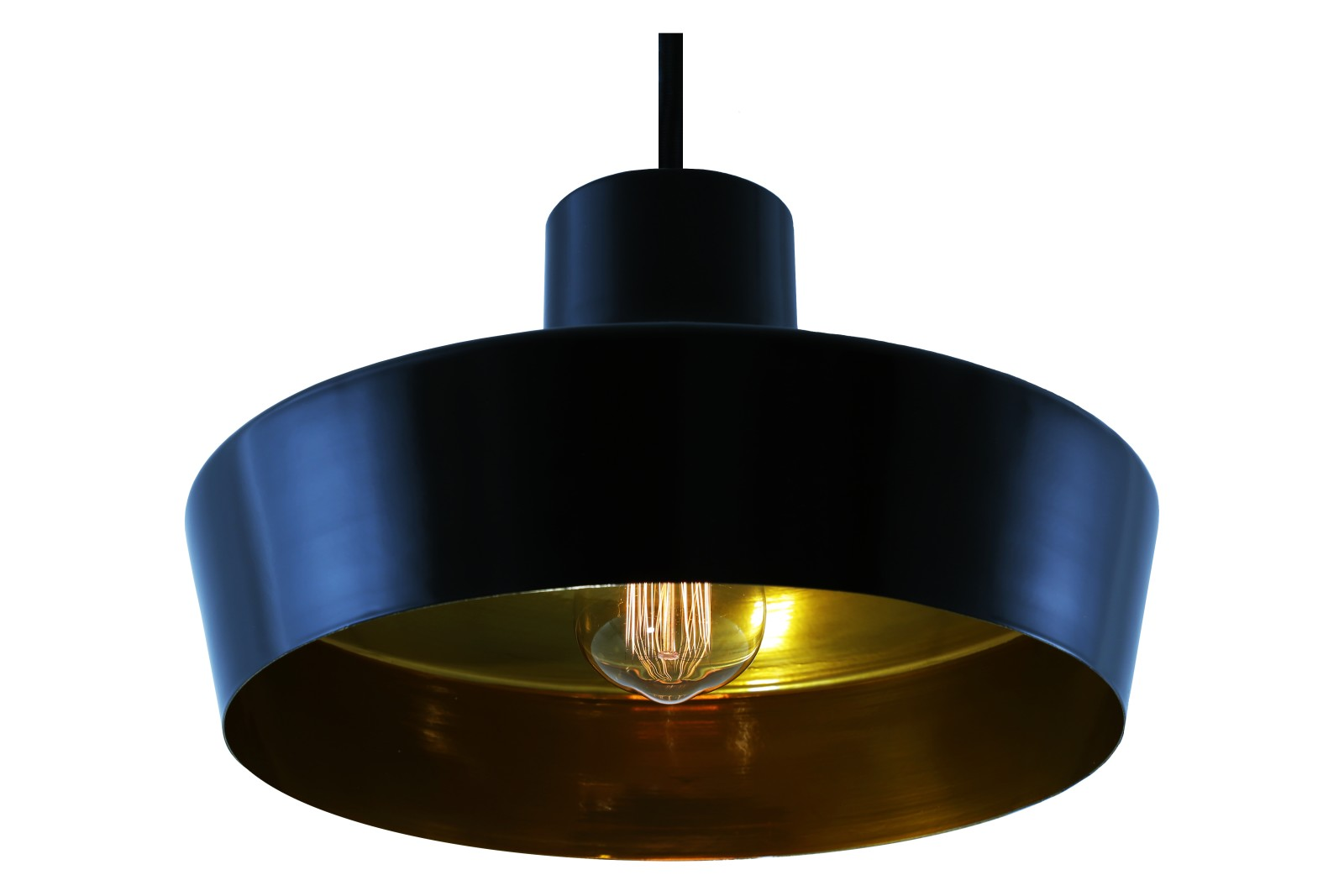 Passion Pendant Light Powder Coated Matte Black, Satin Brass