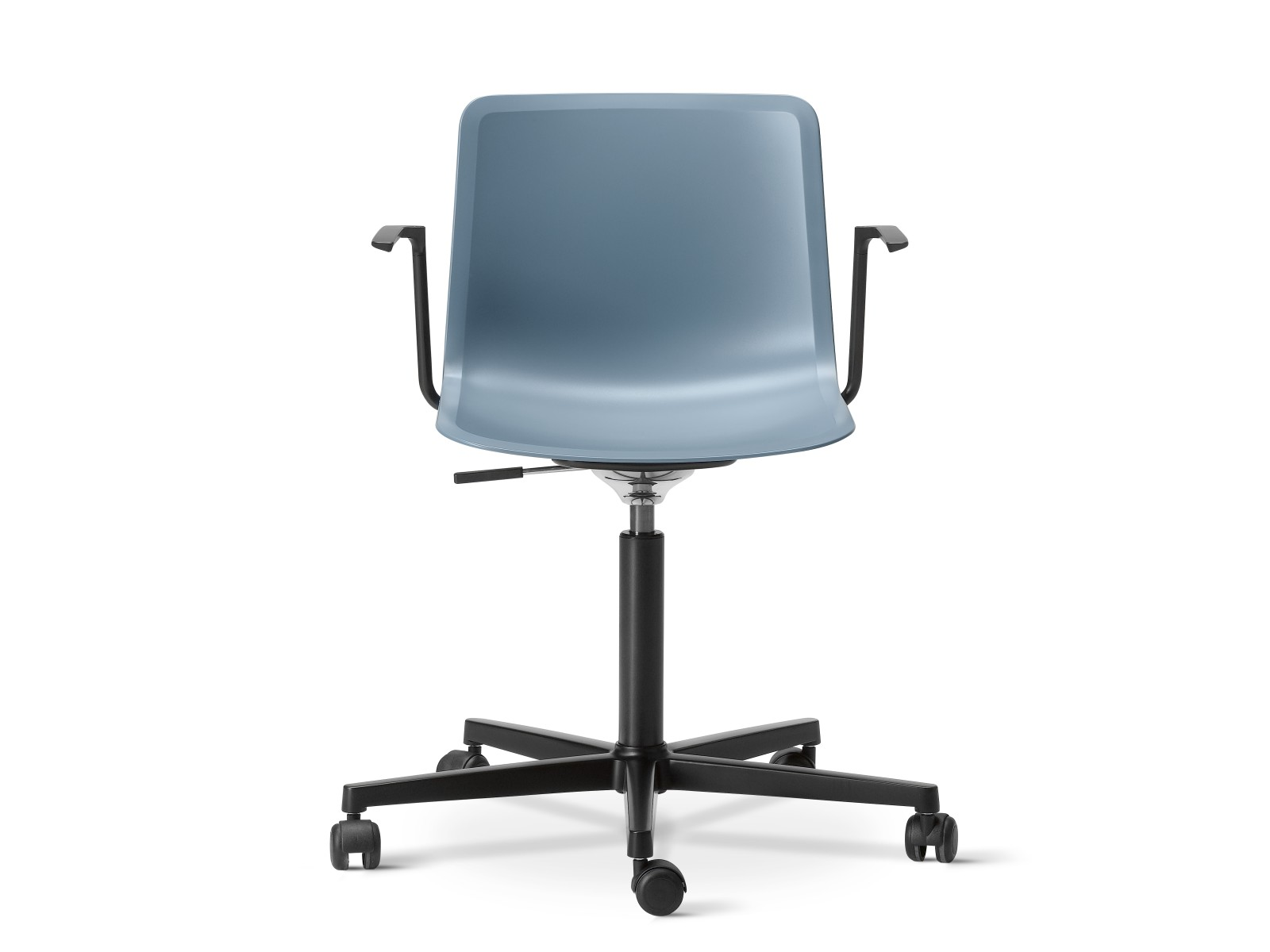 Pato Office Armchair Chrome Steel, Quartz grey