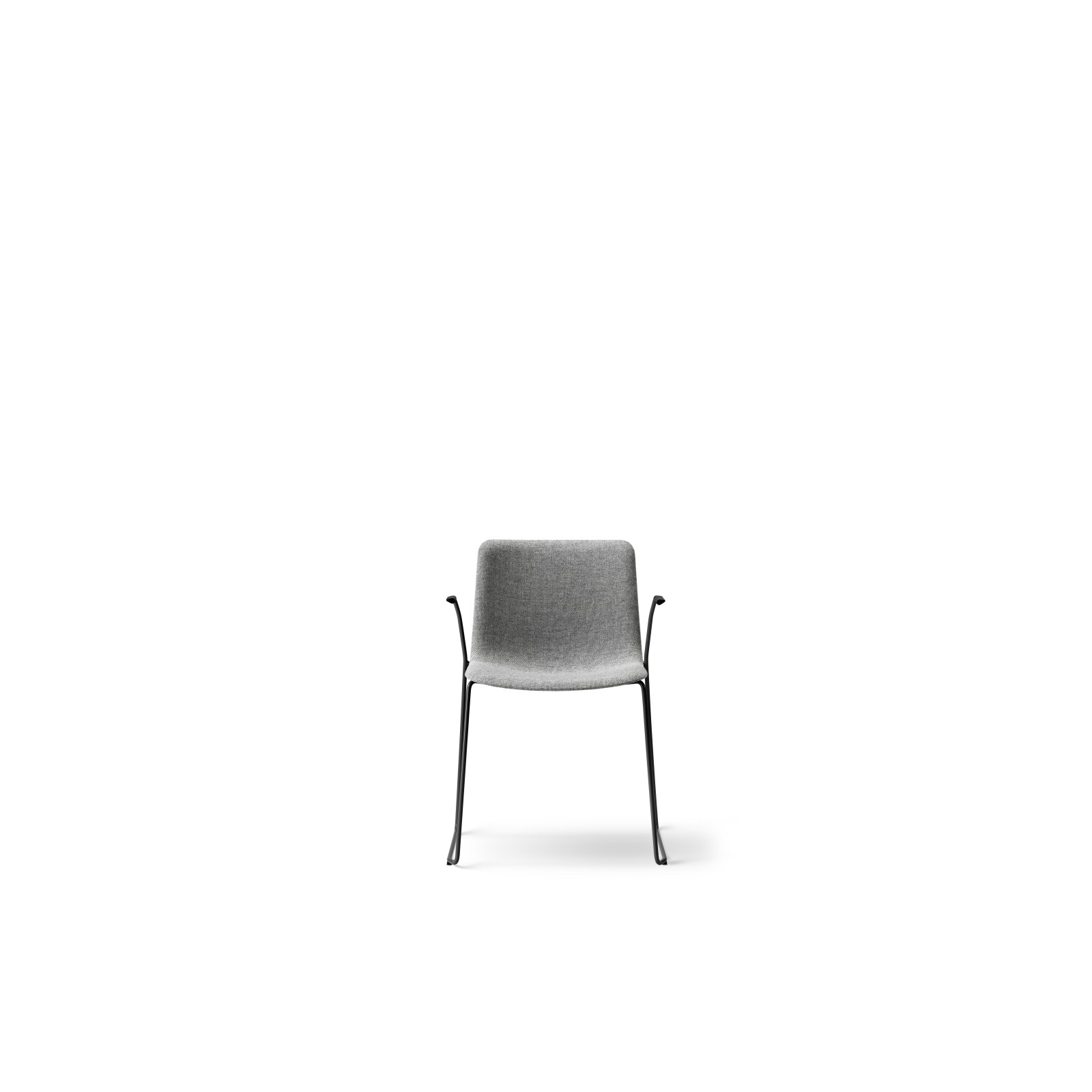 Pato Sledge Armchair Fully Upholstered Chrome Steel, Remix 2 143