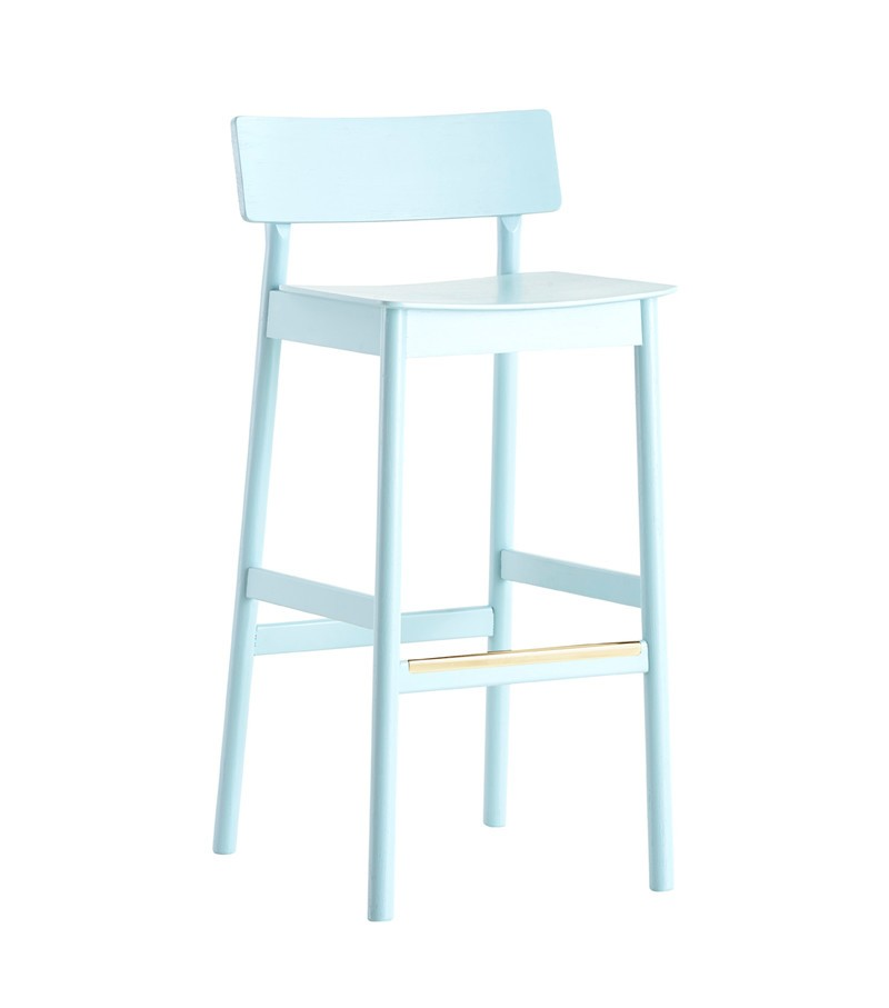 Pause bar stool Light blue
