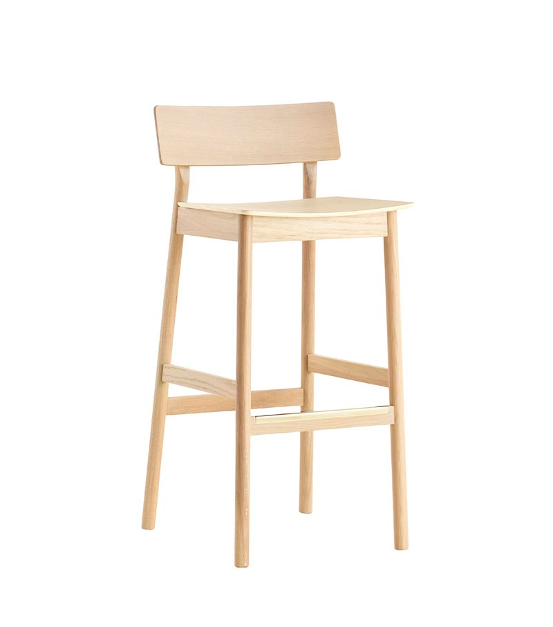 Pause counter chair White pigmented lacquer oak