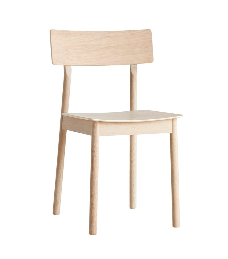 Pause dining chair - set of 2 White pigmented lacquer oak